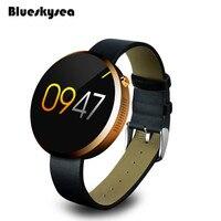 Blueskysea DM360 Hartslagmeter DM360 Waterdichte Bluetooth Smart Horloge Voor IOS Android Systeem Gold
