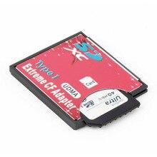 100% Высокое качество микро-tf для Compact Flash CF Тип я чтения карт памяти Писатель адаптер Оптовая Прямая доставка