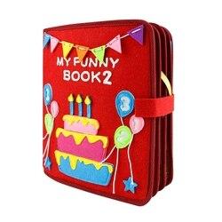 Mamá DIY Montessori mi divertido libro bebé educación temprana primer libro silencioso 21X25CM cuadro libro Manual paquete de trabajo para el embarazo