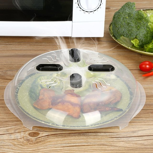 MOONBIFFY Food Guard Microwave Hover Cover With Steam Vents
