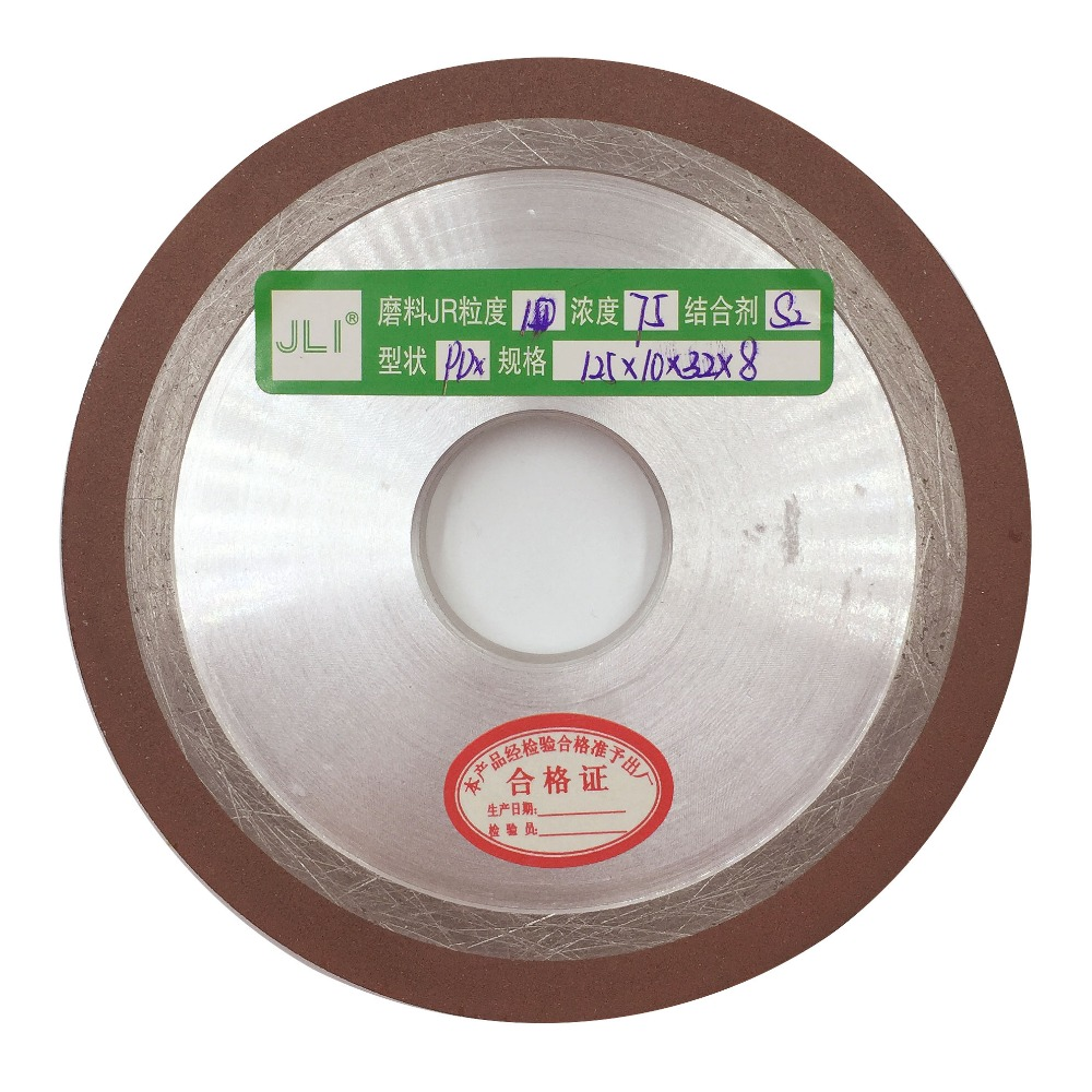 JLI 1 pcs 125*10*32*8mm Degree Diamond Wheel Cutting Electroplated Saw Blade Grinding Wheels Disc Grain Fineness Rotary Tools