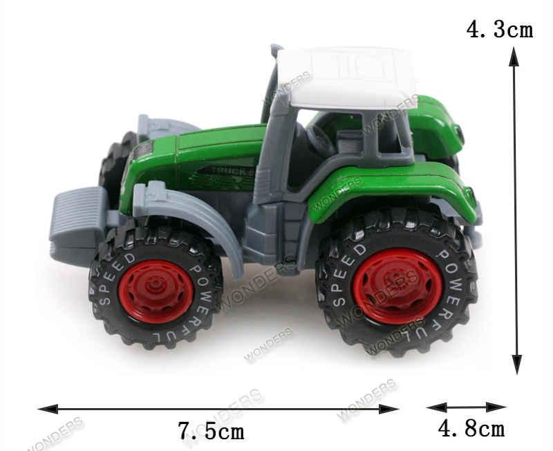 Nova chegada trator brinquedo liga rural caminhão utilitário terreno veículo fazenda liga trator caminhão modelo criança modelo de metal veículos agrícolas