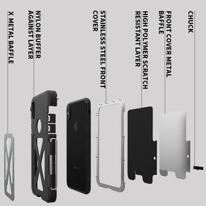 Image 2 - Étuis à clapet robustes en acier inoxydable de R JUST pour Apple iPhone X