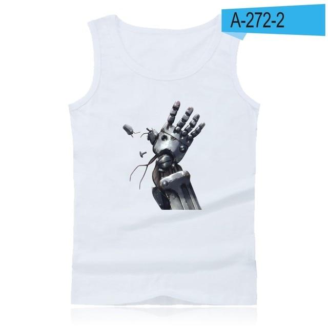 Full-Metal Alchemist Mens Sports Vest Fitness Vest Cotton Casual Sleeveless T-Shirt