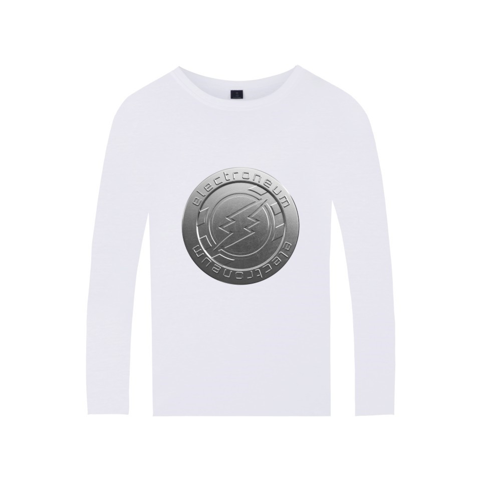 Electroneum Logo Print T-shirt Blockchain Electroneum Cotton Long Sleeve Tees Bitcoin Electroneum cryptocurrencies Summer tshirt 5