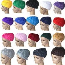 3be160816d54a Mode femmes Hijab Turban casquette foulard islamique solide chapeau musulman  indien casquettes nouveau IK88(China