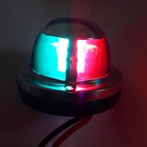 Image 4 - Kırmızı Yeşil LED navigasyon ışığı 12 V tekne Yat Paslanmaz Çelik Iki Renkli Yelkenli Sinyal Lambası