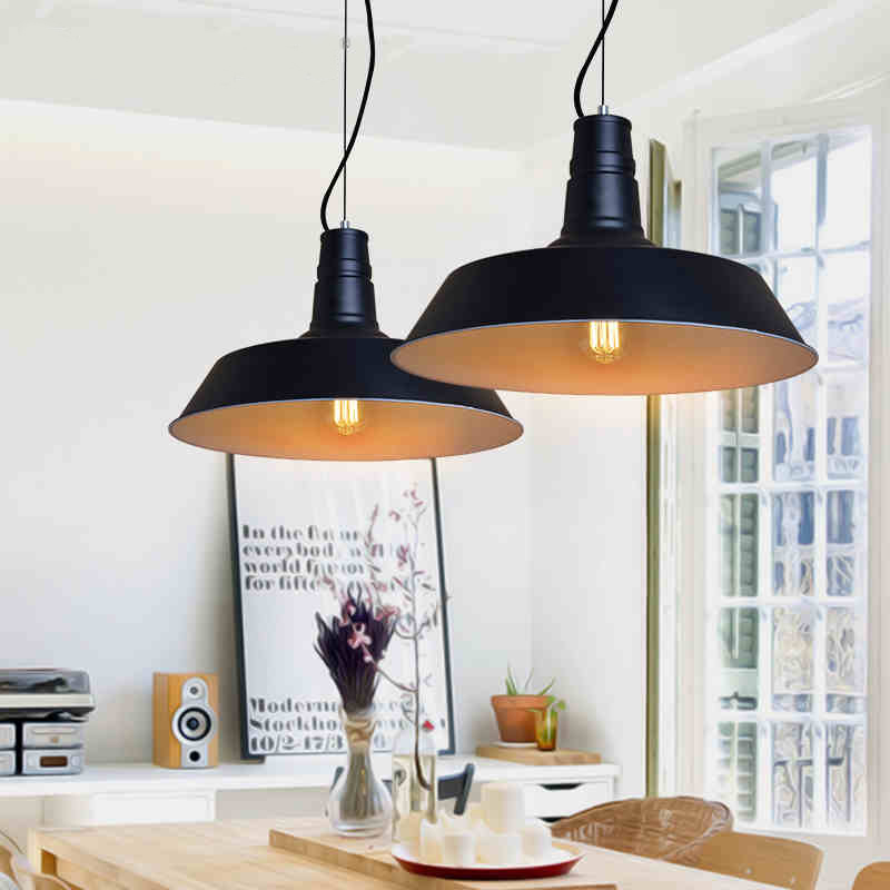 Nordic Pendant Lights American Country Pendant Lighting Fixture White Black Hanging Lamp Home Indoor Lighting Aluminum Lamps Nordic Pendant Lights American Country Pendant Lighting Fixture White Black Hanging Lamp Home Indoor Lighting Aluminum Lamps