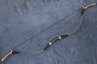 best selling Chinese traditional Handmade Real Snakeskin Longbow Recurve Bow For Archery Hunting