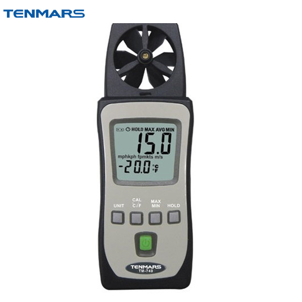 TENMARS TM-740 Pocket Air Velocity Temperature Wind Speed Meter Anemometer цены