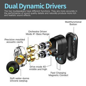 Image 5 - ההברה S101 TWS אוזניות 4 רמקול קול חזק בס של QCC3020 שבב 10 שעות אוזניות רעש ביטול S101 נפח שליטה