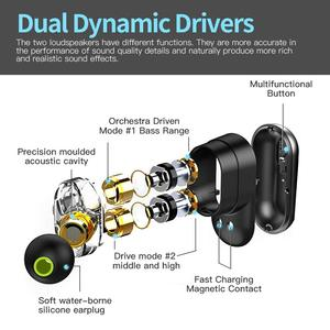 Image 5 - SYLLABLE auriculares S101 TWS con sonido de 4 altavoces, potentes graves con chip QCC3020, 10 horas de autonomía, cancelación de ruido, control de volumen S101