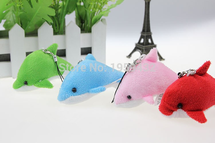 Hot Super Cute Little Dolphin Plush Toy mobile Phone pendant Key Chain Bag Pendant Small Plush Mini Doll Gifts Kids Baby Toys