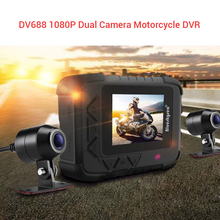 купить Blueskysea 2.4 DV688 Waterproof Camera Motorcycle GPS Dash Cam Full HD 1080P Dual Moto DVR Black Night Vision Box Cam Dashcam дешево