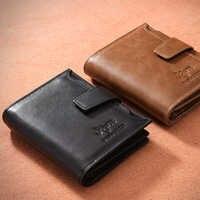 DWTS Vintage Männer Brieftasche PU Leder Kurze Brieftaschen Männlichen Multifunktionale Rindsleder Geldbörse Münze Tasche Führerschein Halter