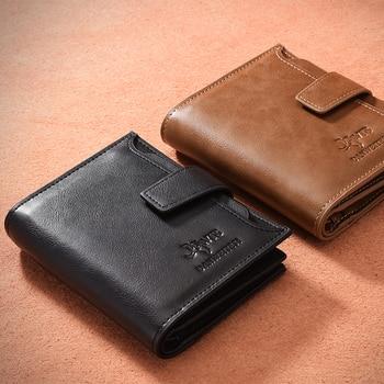 8c32f5c55 DWTS Vintage hombres cartera cuero PU billeteras hombre de bolso de cuero de  la moneda bolsillo licencia de conductor titular