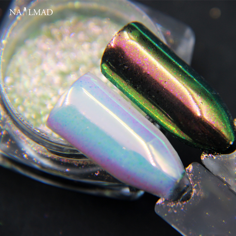 0.2gram NailMAD Unicorn Chrome Powder Nail Art Chrome Pigment Mermaid Powder