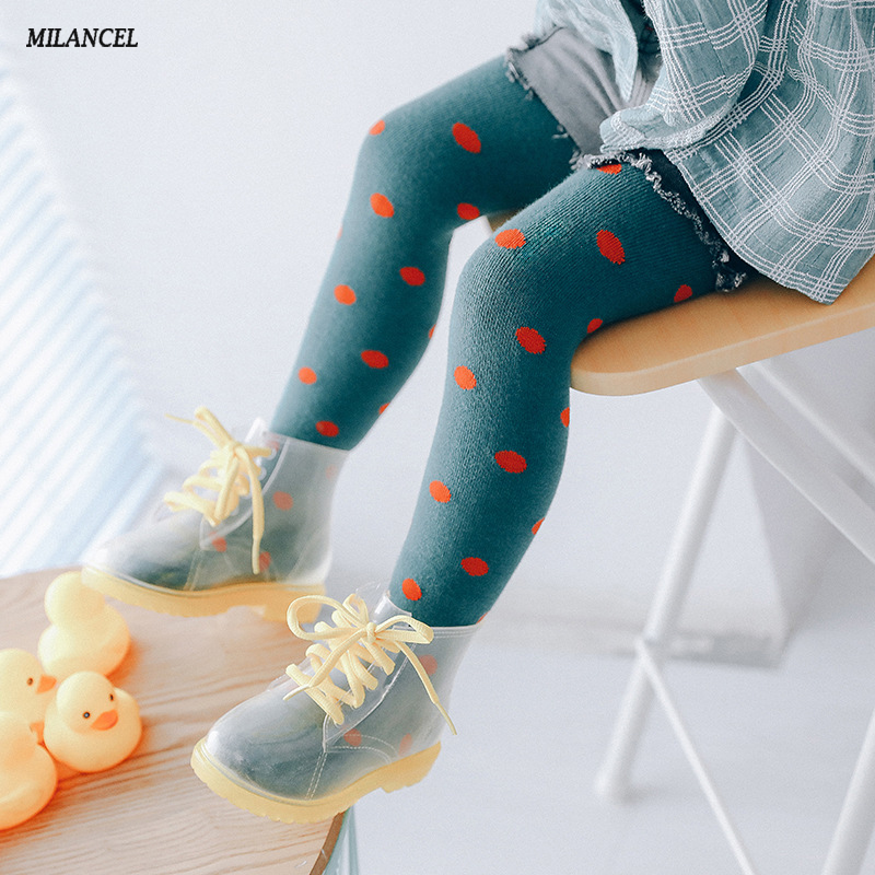 MILANCEL 2018 Kids Leggings Dot Girls Trousers Cute Boys Legging Skinny Girls Leggings Cotton Legging for Girls Clothing