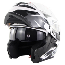 Motorcycle Full Face Helmet ABS Casque Moto High Quality Motocross Helmet Motorbike Riding Capacete Dual Lens DOT Casco Moto