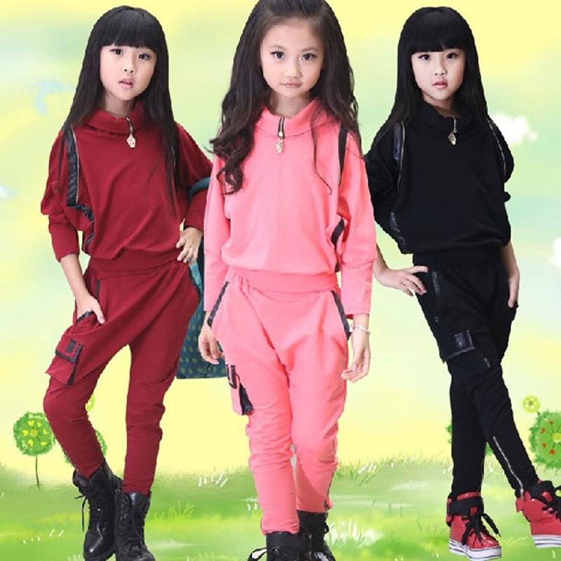 Girls Boutique Clothing 3 Color New Girls Fashion Autumn Sport Suit coat+ Pants Girls Autumn Winter Children Clothing Set fashion high quality brand letter children 3 piece suit boutique girls clothing size 8 to size 13 year