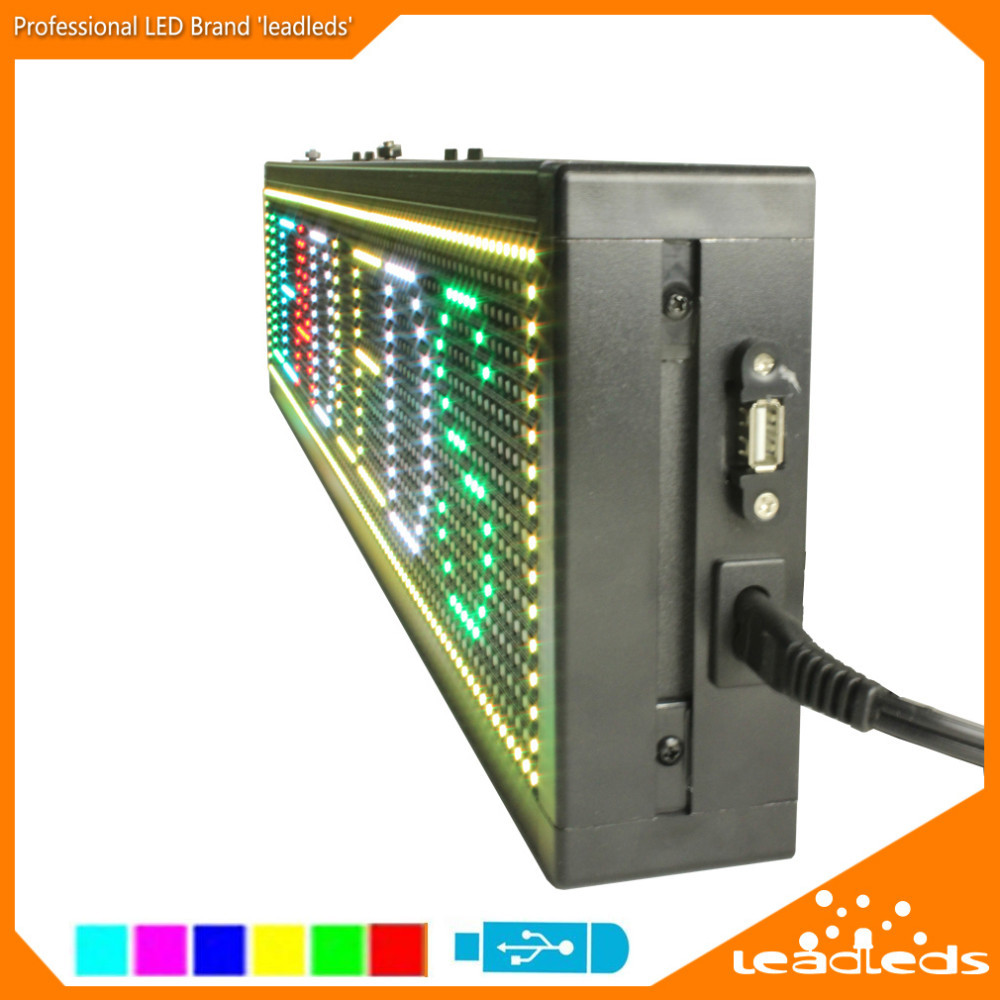 rgb full color programmable electronic advertising signs