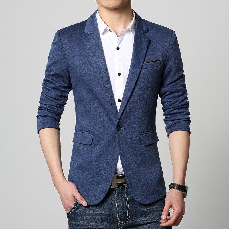 2018 New Arrivals Mens Korea Slim Fit Luxury Blazers Male Design