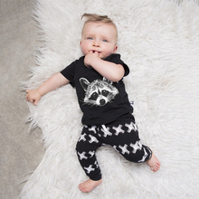 CN-RUBR Squirrel Printed Baby Boys Clothes Children Clothing Sets Summer Cotton Kids Clothes 2pcs Toddler T-shirt + Pants