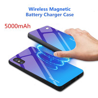 Battery 5000mAh For Xiaomi Mi9 Power Bank Back Clip Battery Charger Case For Xiaomi Mi9 Wireless Magnetic Charging Cover