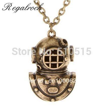Regalrock Armor Holy Diver The Sea Diver Diving Helmet Necklace