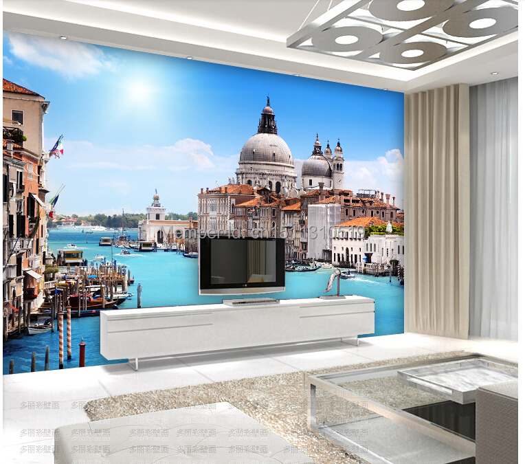 Custom Photo wallpaper, Venice city building large mural wallpaper for the living room TV sofa bedroom wall pvc wallpaper custom 3d mural wallpaper european style painting stereoscopic relief jade living room tv backdrop bedroom photo wall paper 3d