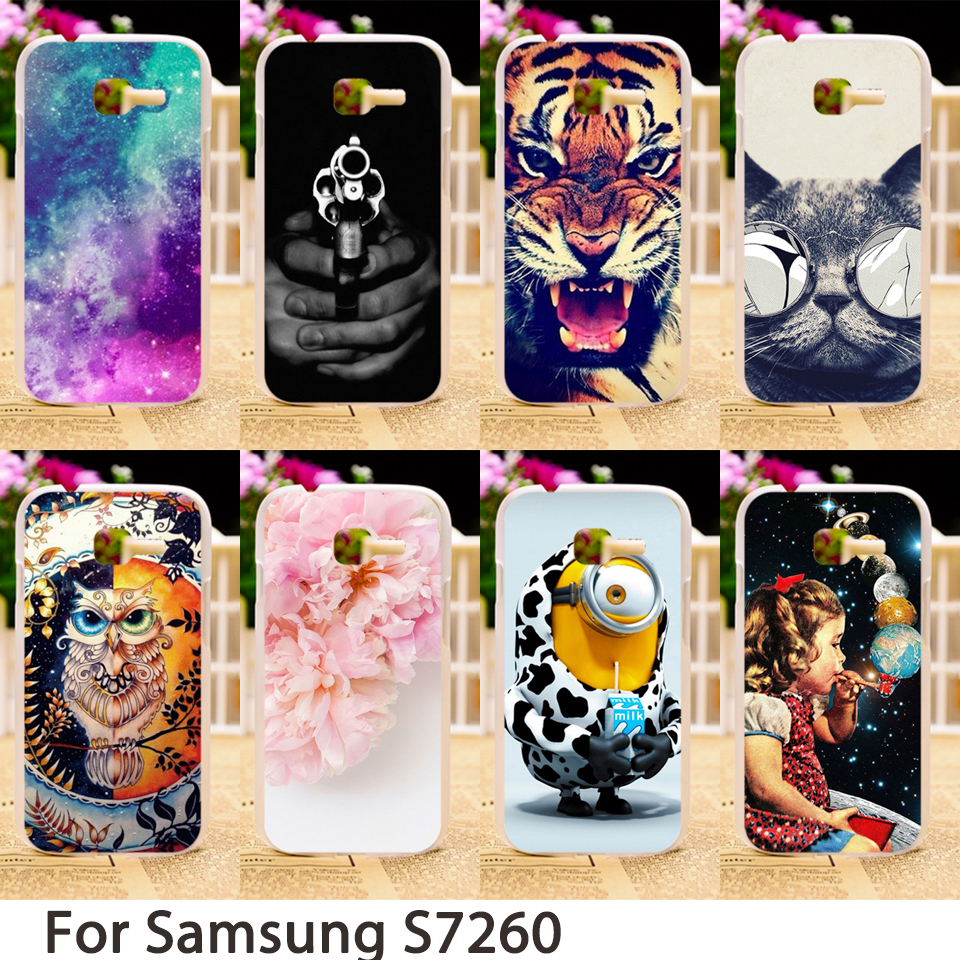 TAOYUNXI Soft Smartphone Cases For Samsung Galaxy Star Plus S7260 S7262 Pro GT-S7262 Case Hard Back Cover Skin Sheath Bags