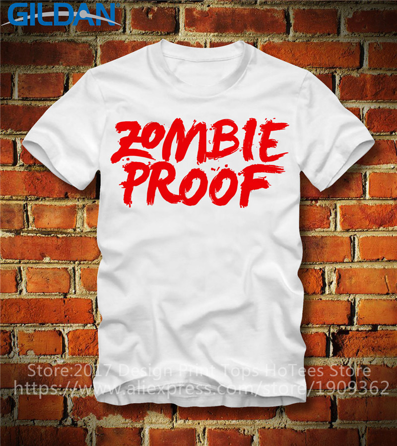 Work Shirts  Short Sleeve Men Fashion Crew Neck Zombie Proof T