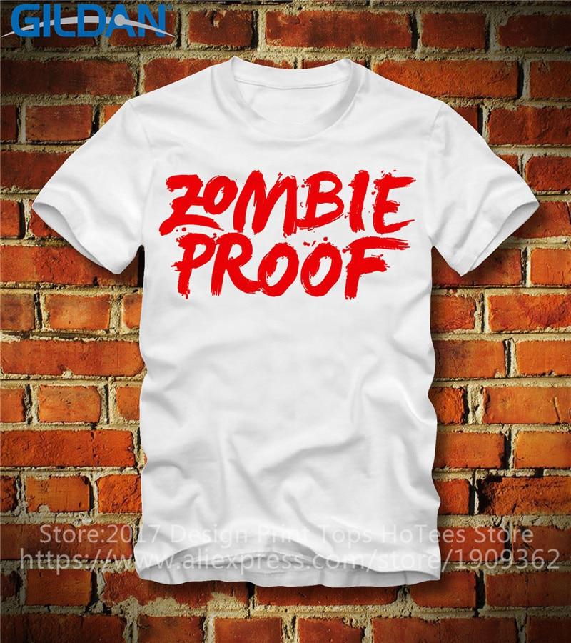 Work Shirts  Short Sleeve Men Fashion Crew Neck Zombie Proof T