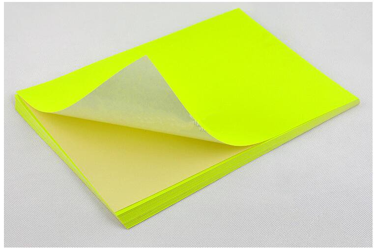 Network Fluorescence Labels Sticker 50 Sheets  A4 Size Matte Self Adhesive Label Sticker Printer Paper for Laser inkjet printing-in Stationery Stickers from Office & School Supplies