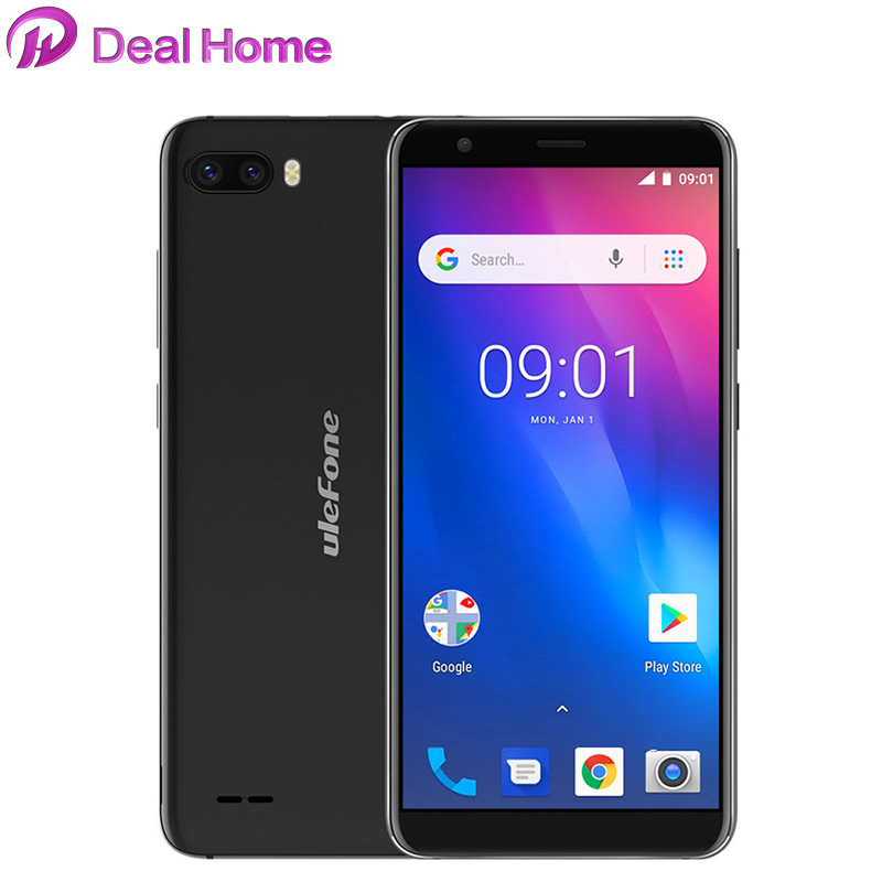 Original Ulefone S1 Android 8.1 5.5 inch 18:9 <font><b>MTK6580</b></font> <font><b>Quad</b></font> <font><b>Core</b></font> 1GB RAM 8GB ROM 8MP+5MP Rear Dual Cameras 3G Smartphone image