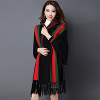 New Women's Cashmere Cloak Cape Two sides Thicked Warm Coat