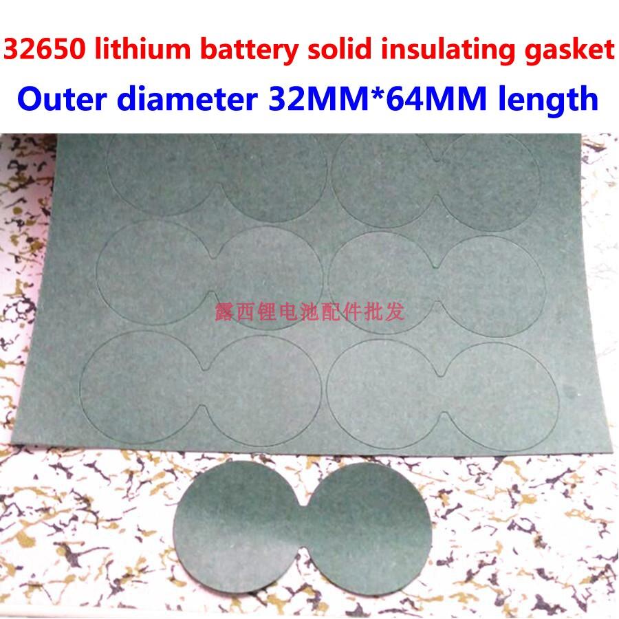 Купить с кэшбэком 100pcs/lot 2S 32650 lithium battery positive electrode hollow flat head insulating gasket 1 battery hollow flat head meson