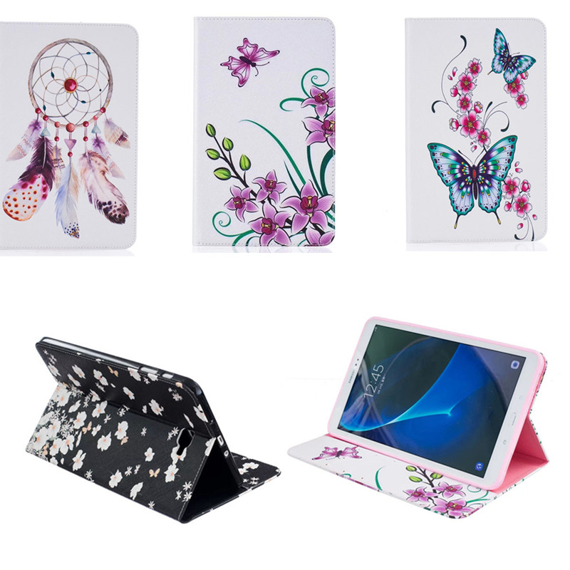 BF luxury Flip Cover For Samsung Galaxy Tab A 10.1 2016 T585 T580 SM-T580 T580N Tablet case Cover shell skin with Card Holder