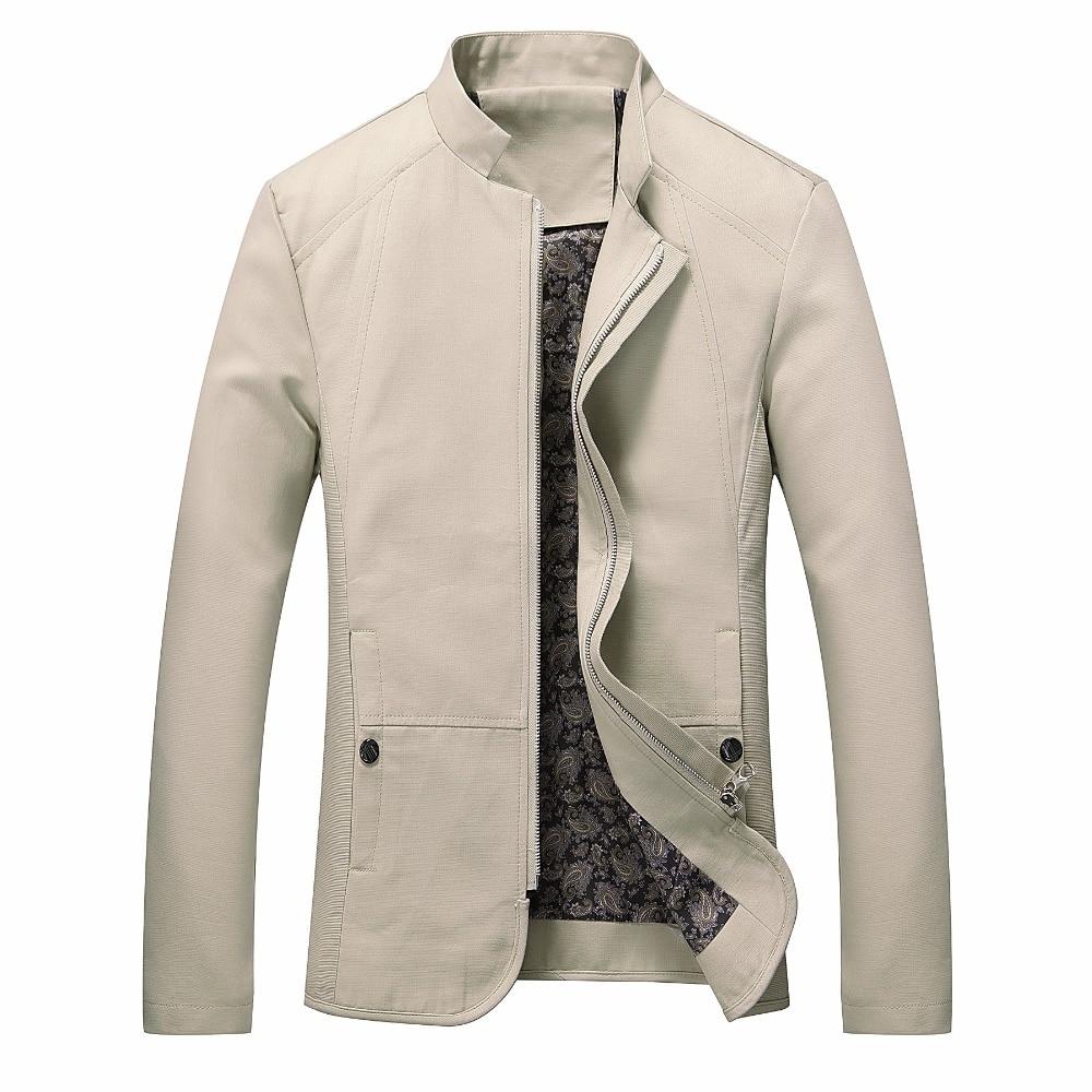 2018 brand men spring autumn casual font b jacket b font men s Slim fit cotton