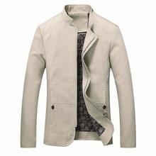 2018 brand men spring autumn casual jacket men's Slim fit cotton jacket and coat Mens stander collar jacket veste homme