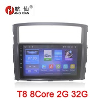 HANG XIAN 9 Android 8.1 Octa 8 Core car dvd player for MITSUBISHI Pajero V97 V93 2006 2015 car radio gps navigation wifi