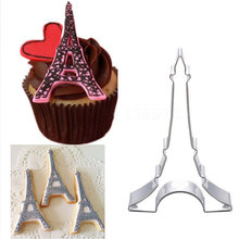 Tower Fondant Cake Stencil Kitchen Cupcake Decoration Template Mold Cookie Coffee Birthday Baking Biscuits Stamp