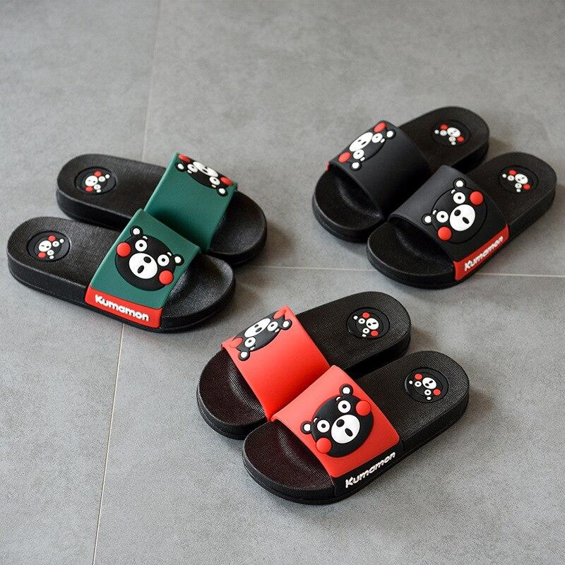 2018 Summer New Hot Childrens Shoes Cartoon Cute Indoor Non-slip Furniture Slippers Soft Bottom Non-slip Boys Girls Sandals