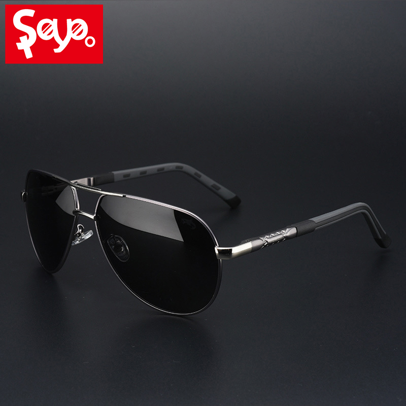 SAYLAYO Fashion Polarized Sunglasses Men Classic Vintage Alloy Frame Sun glasses Coating Lens Driving Shades UV400 Protection in Men 39 s Sunglasses from Apparel Accessories