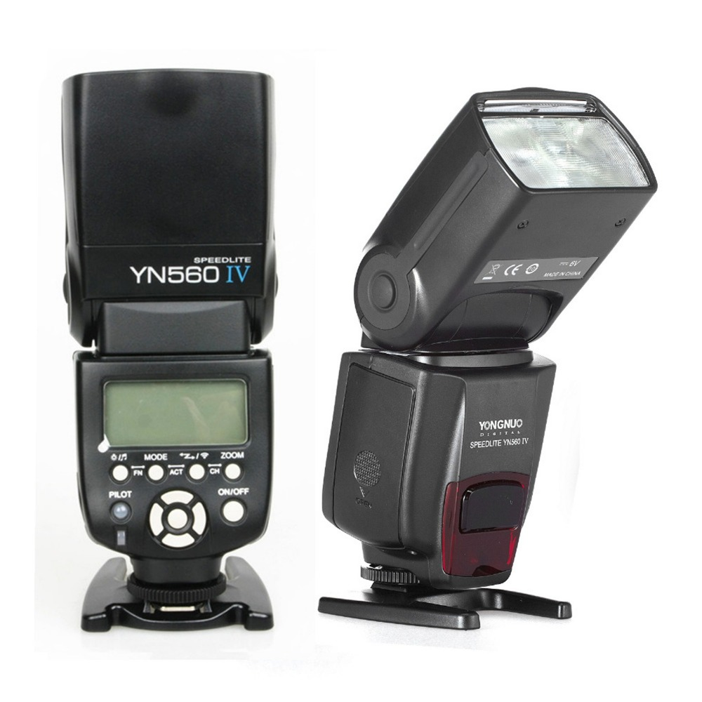 YONGNUO YN560 IV Speedlite Wireless Flash YN560IV Flashlight For Canon Nikon Pentax Panasonic Olympus DSLR Camera yongnuo yn560 iv yn560iv wireless control flash speedlite for canon nikon digital slr camera with yongnuo 560tx flash trigger