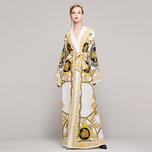 Runway 2017 Women Autumn Dresses Sexy Elegant Robe Prom Fall Winter Evening Party Club Womens Long Maxi Wedding Beach Dress