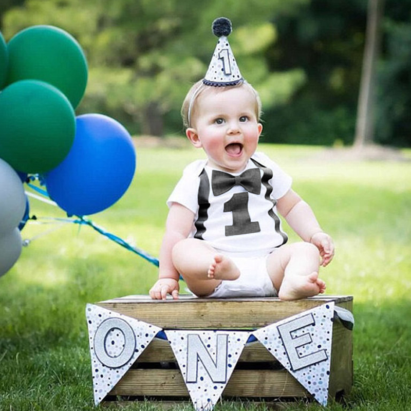 Baby Boy Romper Toddler Boys Clothes Kids Jumpsuit 1st Birth