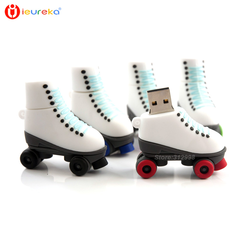 Roller skates buy nz - Pendrive Fashion Ice Skates Pen Drive Usb Drives Genuine 4gb 8gb 16gb 32gb 64gb Cartoon Roller
