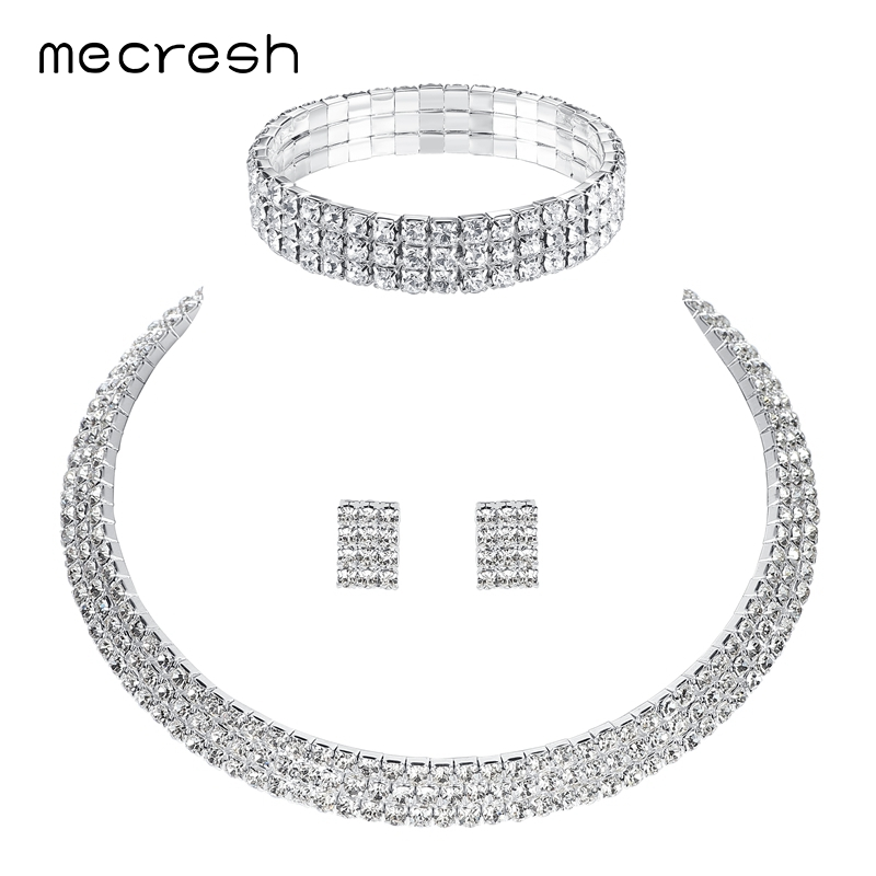 Mecresh Classic Circle Rhinestone African Jewelry Sets Crystal Wedding  Necklace Bracelet Set for Bride Bridesmaid Jewelry 3TL001-in Bridal Jewelry  Sets from ... 839316556405