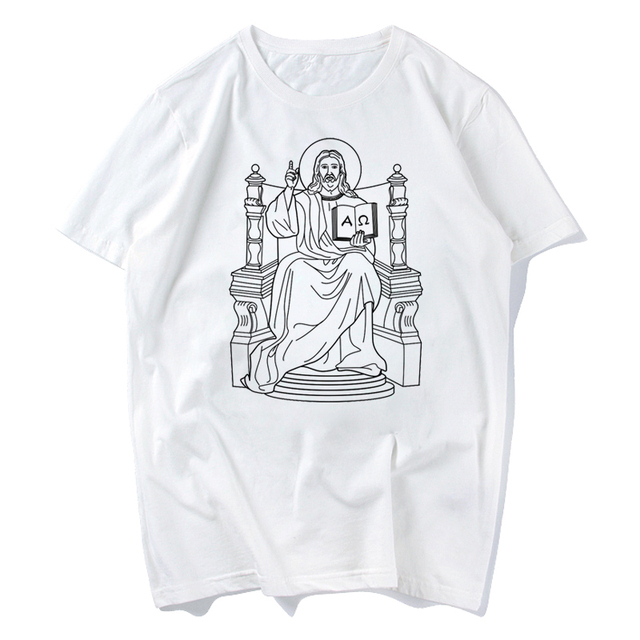 aa58c2ef059 Jesus King of Kings lion king simba in pocket funny t shirt men jollypeach  brand new white casual plus size tshirt homme